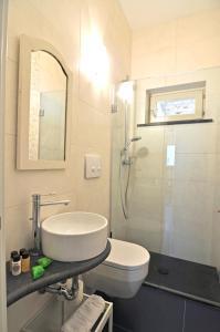A bathroom at Il Gabbiano Relais in Stromboli