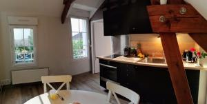 A kitchen or kitchenette at Le petit Mérinos - Rambouillet -
