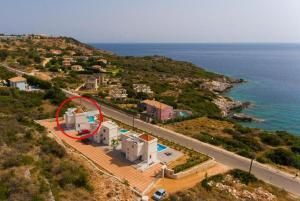 Vista aerea di Kefalonian Villas Collection