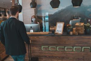 Lobby/Rezeption in der Unterkunft Cocoon Hauptbahnhof