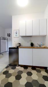 A kitchen or kitchenette at Niron Apartament