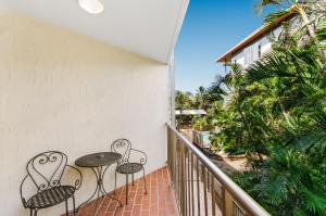 A balcony or terrace at Waters Edge The Strand