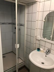 A bathroom at Gästezimmer Siminciuc