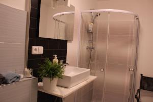 A bathroom at Apartmány Caffe & Grill