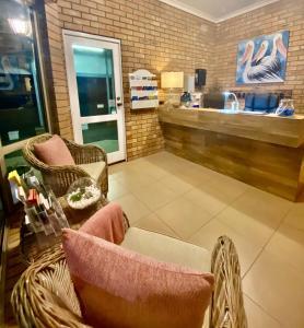 The lobby or reception area at Coastal Waters Motor Inn