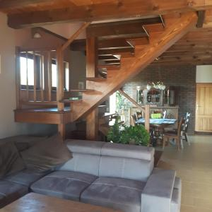 Posezení v ubytování Dom na wynajem Mazury DOM NA WYSOKIM BRZEGU