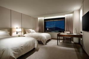 A television and/or entertainment center at The Shilla Seoul