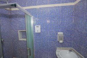A bathroom at Pension San Pancracio