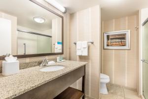 A bathroom at Hampton Inn & Suites Madison Downtown