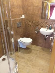 Kúpeľňa v ubytovaní Penzion Scarlet