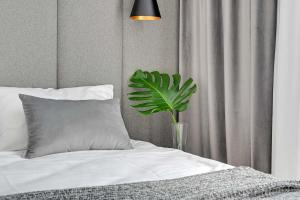 A bed or beds in a room at Equus Apartments