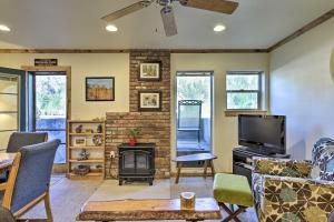 A seating area at Cozy Living in Ouray, 1 Block Walk to Main St