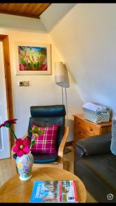 A seating area at Craigs Lodges