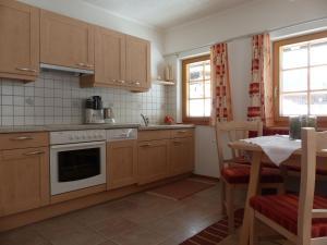 Küche/Küchenzeile in der Unterkunft Ferienwohnung Innerlipper