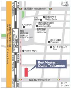 The floor plan of Best Western Osaka-tsukamoto