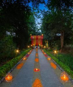 A garden outside Vivanta Sawai Madhopur Lodge