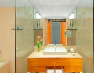 A bathroom at Radisson Blu Hotel Ranchi