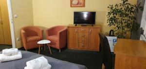 Телевизор и/или развлекательный центр в Saraya Wellness & Penzion