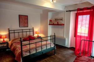 Un ou plusieurs lits dans un hébergement de l'établissement Gîte Chambres d'hôtes Le Bellevue