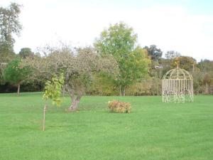 A garden outside Manoir de la Baronnie