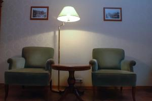 A seating area at Central Apartments Lviv