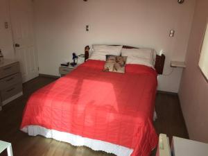 Cama o camas de una habitación en Habitaciones Valparaiso