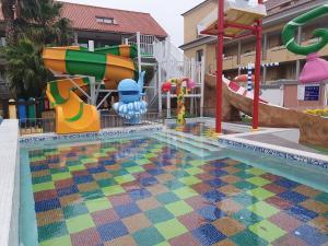 O parque aquático no apartamento ou nas proximidades