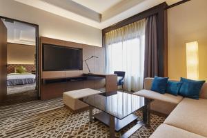 A seating area at Hotel Nikko Tachikawa Tokyo