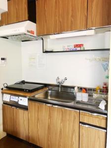 A kitchen or kitchenette at Fuji Subashiri Condominium Tannpopo