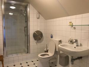 Een badkamer bij Hotel/Pension Diepe