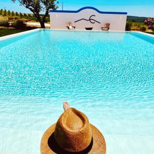 The swimming pool at or near Monte Capitão Country house