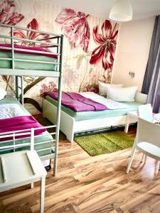 A bunk bed or bunk beds in a room at Stadthostel Nordstern