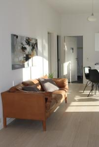 A seating area at Munkebjerg Bed & Breakfast