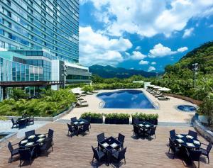 The swimming pool at or near Hyatt Regency Hong Kong, Sha Tin