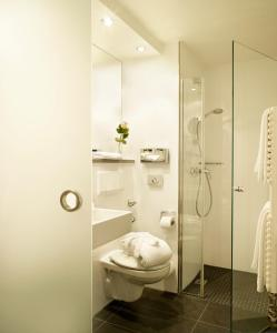 A bathroom at Hotel Stadt Freiburg