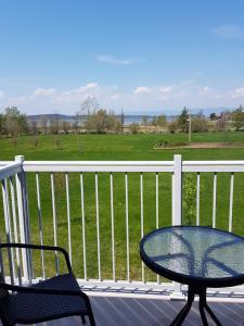 A balcony or terrace at Motel des Mariniers