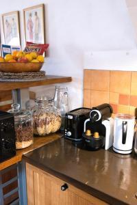 Kuchyň nebo kuchyňský kout v ubytování Apartment Neratovice