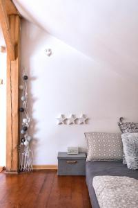 Postel nebo postele na pokoji v ubytování Apartment Neratovice
