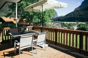 A balcony or terrace at Haus am Stein
