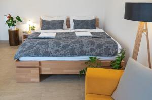 Postel nebo postele na pokoji v ubytování Apartmán Calma