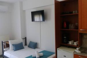 A television and/or entertainment center at Joy Apartment