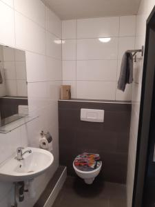 A bathroom at Pension Rodenburg