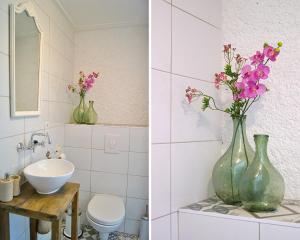 A bathroom at L'Orchidée Sauvage