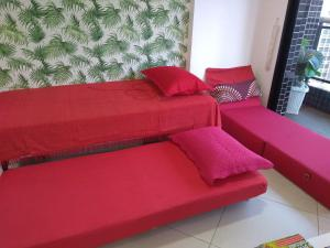 A bed or beds in a room at Apartamento 1206-D Landscape Beira Mar Fortaleza