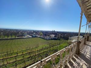 Balcon ou terrasse dans l'établissement Château d'Isenbourg & SPA