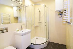 A bathroom at P&J Apartments Floriańska