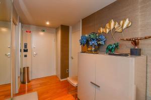A kitchen or kitchenette at Apartamento Astrolab