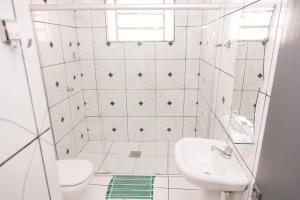 A bathroom at Hotel Presidente