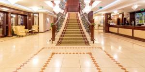 The lobby or reception area at Hotel President Solin