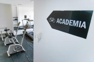 Het fitnesscentrum en/of fitnessfaciliteiten van Brasilia Park Hotel